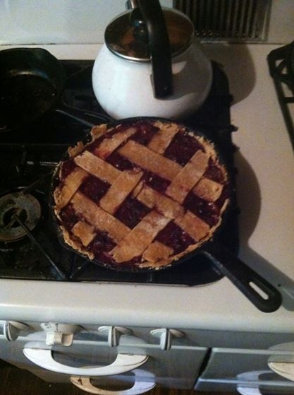 Blueberry pie with berries from the farm. YUM