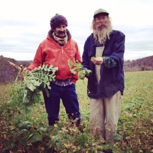 jeff poppen and sandor katz in a garden